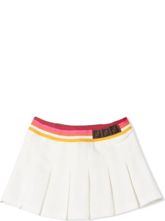 Fendi White Cotton Skirt