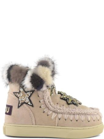 Mou Eskimo Sneaker In Rose Beige