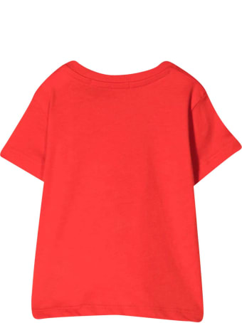 MSGM Red T-shirt With White Print
