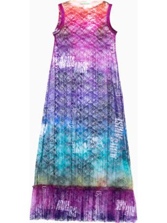 Aries Pleated Lace Maxi Shift Dress Srar50020 Aries