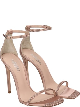 Sebastian Milano Sandals In Powder Satin