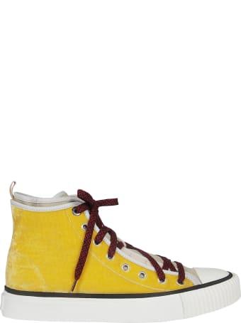 Lanvin Textured Hi-top Sneakers