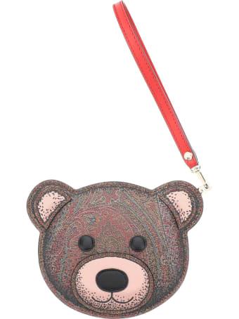 Etro Twister Toys Teddy Bear Pouch Purse