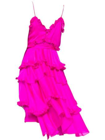 Alexandre Vauthier Fuchsia Silk Dress