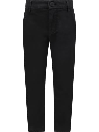 Dondup Black ''perfect'' Pants For Girl With Iconic D