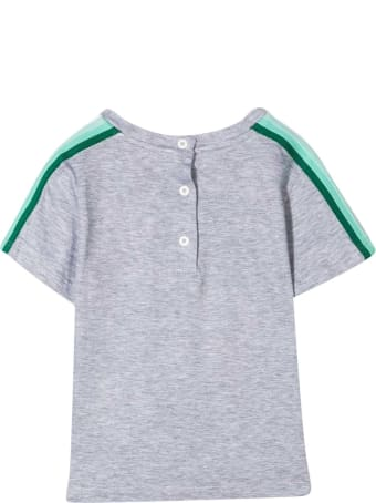 Fendi Grey T-shirt With Multicolor Logo And Details