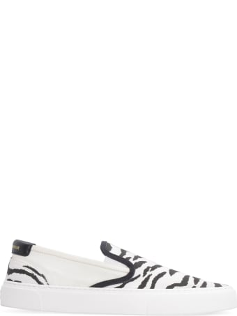 Saint Laurent Venice Printed Fabric Slip-on Sneakers