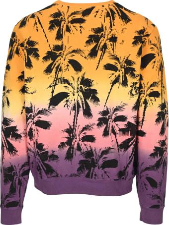 Saint Laurent Dip-dye Palm Trees Print Sweatshirt