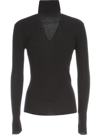 Nuur High Neck 100% Merino Wool Ribbed Sweater