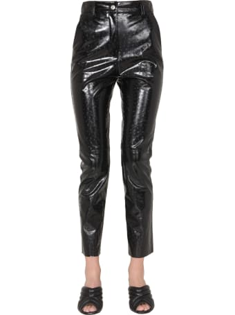 MSGM Faux Leather Pants