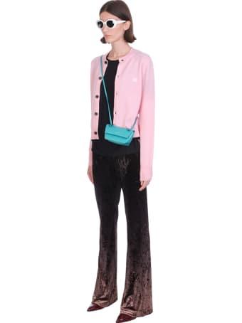 Acne Studios Keva Face Cardigan In Rose-pink Wool