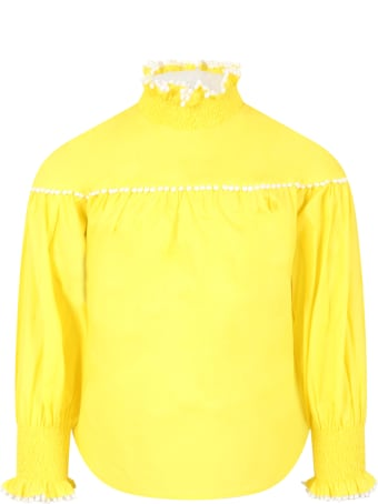 Tia Cibani Yellow Blouse For Girl