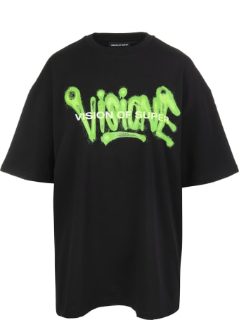 "Vision of Super Black And Green ""visione"" Man T-shirt"