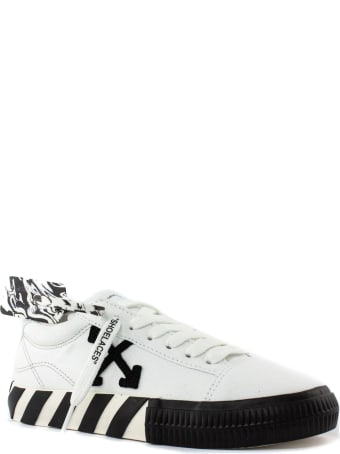 Off-White Canvas Low Arrow Vulcanized Sneakers