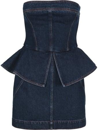 Philosophy di Lorenzo Serafini Philosophy Bustier Denim Dress