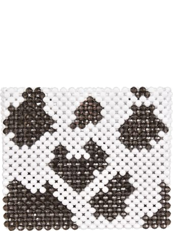 Susan Alexandra Cow Pattern Beaded Tote