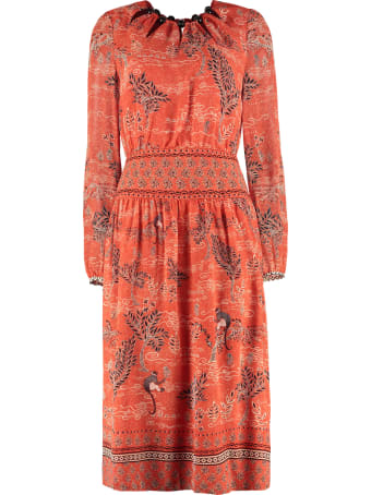Saloni Lea Printed Long Dress