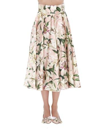 Dolce & Gabbana Lilium Print Skirt