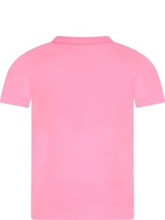 Marc Jacobs Pink T-shirt For Girl With Colorful Logo