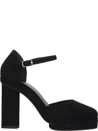 Castañer Charlotte  Sandals In Black Suede