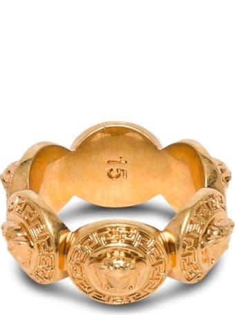Versace Medusa Ring In Gold Metal