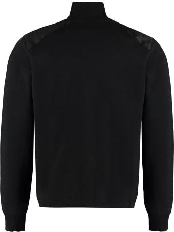 Prada High Collar Zipped Cardigan