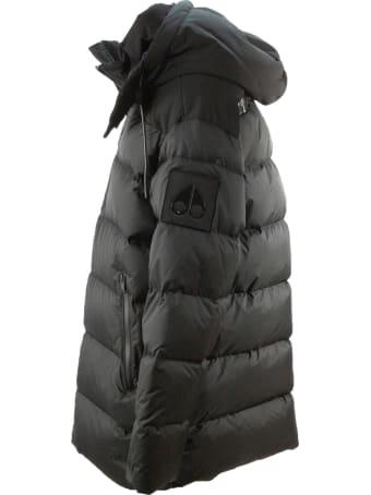 Moose Knuckles Black Padded Hooded Jacket