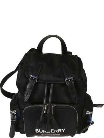 Burberry Front Zip Logo Print Backpack