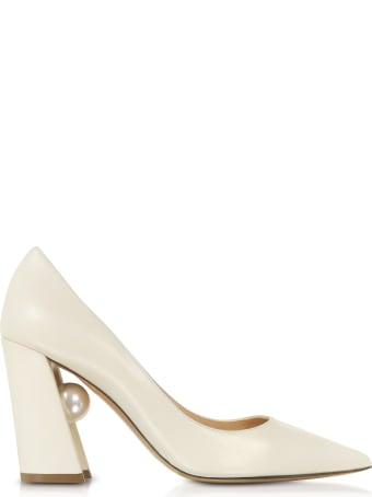 Nicholas Kirkwood Ecru Nappa Leather 90mm Miri Pumps