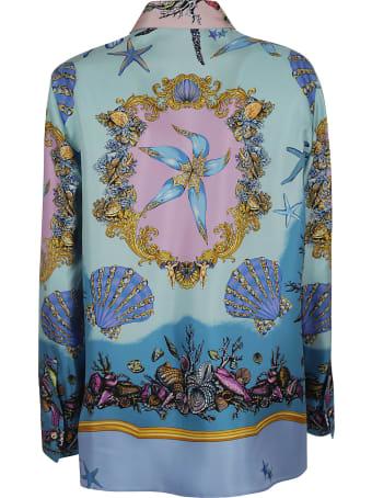 Versace Printed Concealed Shirt