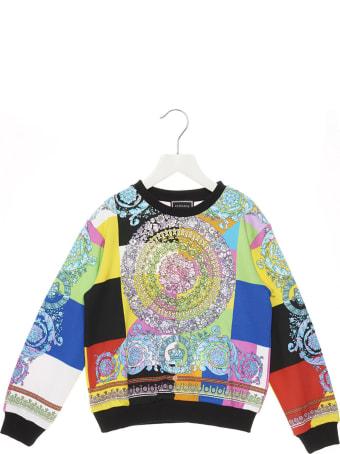 Young Versace 'barocco Pastel' Sweatshirt