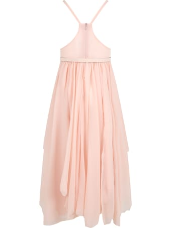 Le Gemelline by Feleppa Pink Dress For Girl
