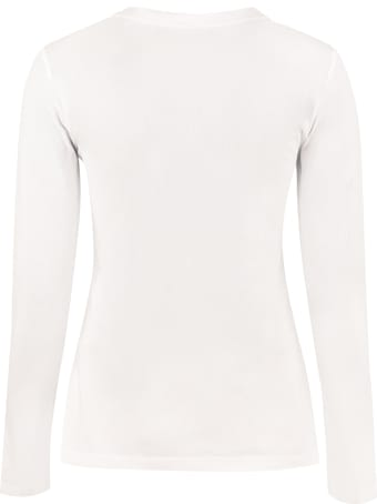 Love Moschino Logo Print Long Sleeve Top
