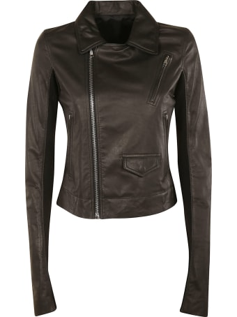 Rick Owens Zipped Biker Jacket
