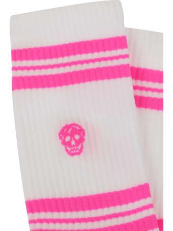 Alexander McQueen Socks Stripe Skull S