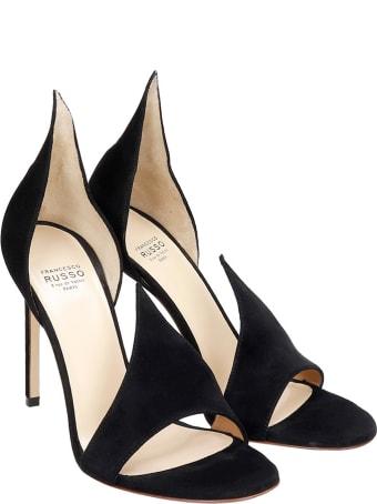 Francesco Russo Sandals In Black Suede