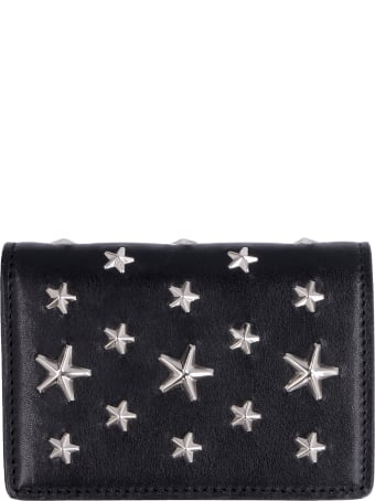 Jimmy Choo Jaxi Leather Wallet With Stars