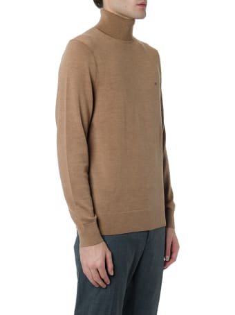 Calvin Klein Light Brown Turtle-neck Wool Sweater
