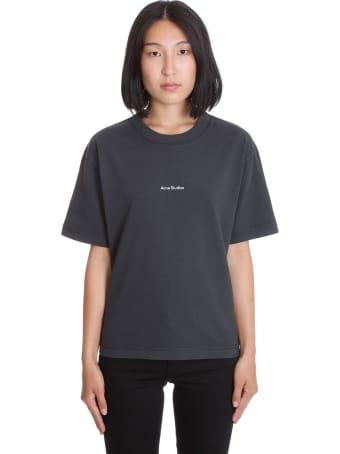 Acne Studios Edie Stamp T-shirt In Black Cotton