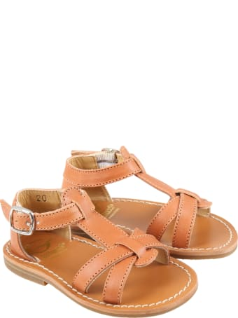 Gallucci Brown Sandales For Girl