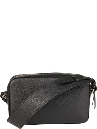 Jimmy Choo Black Leather Varenne Camera Crossbody Bag