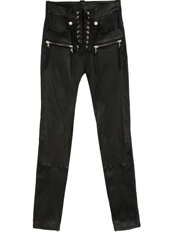 Ben Taverniti Unravel Project Leather Trousers