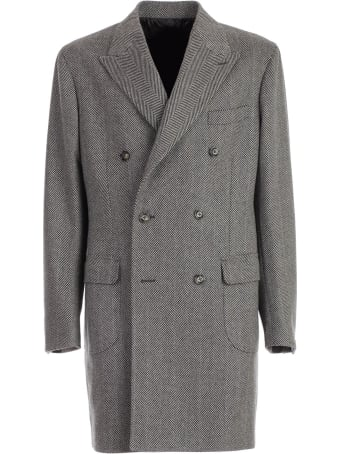 Barba Napoli Coat Double Breasted
