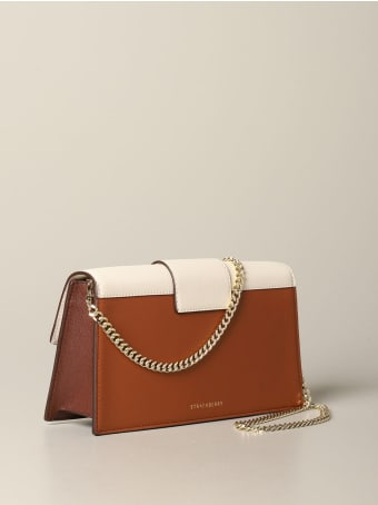 Strathberry Mini Bag Mini Crescent Strathberry Bag In Tricolor Leather