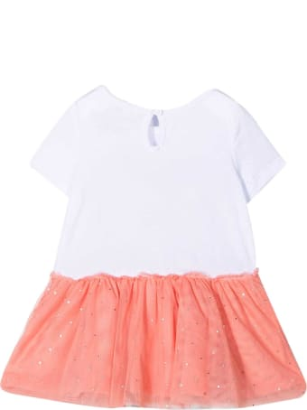 Stella McCartney Kids White Dress With Pink Print