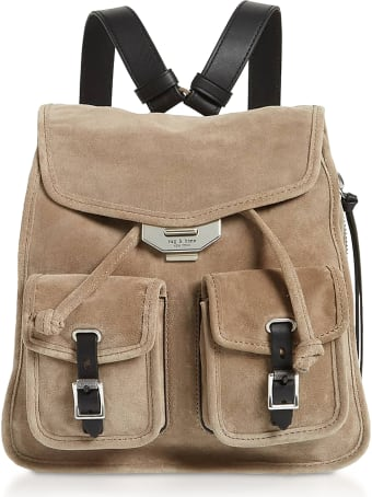 Rag & Bone Warm Grey Suede Field Small Backpack