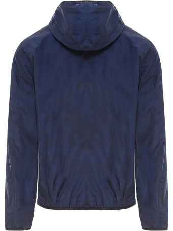 Fay Blue Lightweight Hooded Jacket