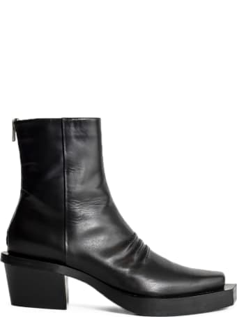 1017 ALYX 9SM Black Leather Ankle Boots