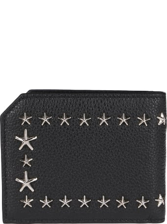Jimmy Choo Black Leather Albany Wallet