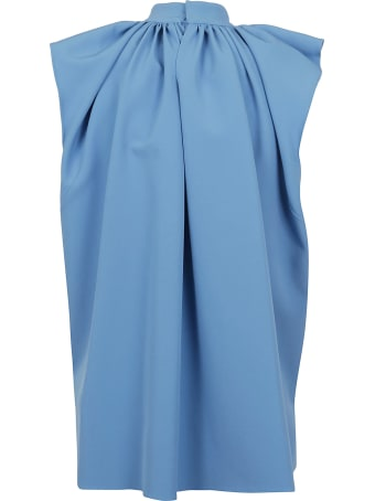 Victoria Victoria Beckham Ruched Shoulder Sleevless Top